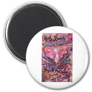 Feel My Beauty Pink Cancer Angel Magnet