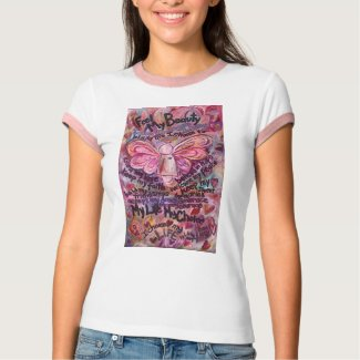 Feel My Beauty Pink Cancer Angel T-Shirt
