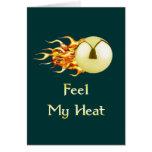 Feel My Heat Flaming Pinball Card