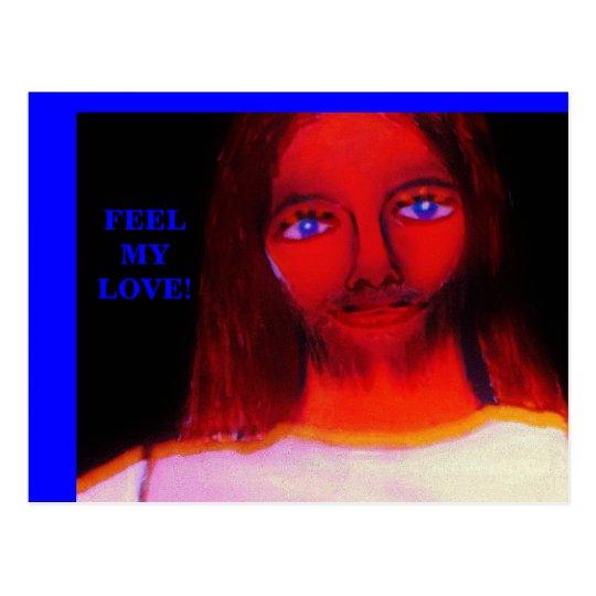 FEEL MY LOVE POSTCARD
