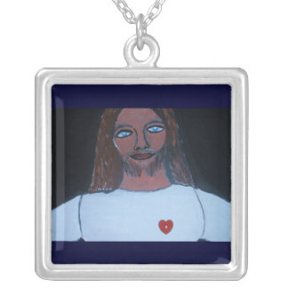 FEEL MY LOVE SQUARE PENDANT NECKLACE