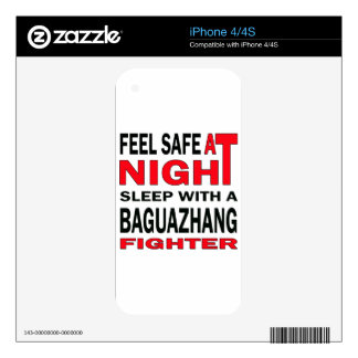 Feel safe at night sleep with a Baguazhang fighter iPhone 4 Decals