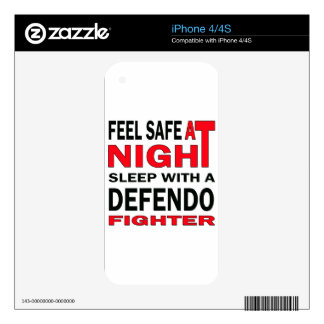 Feel safe at night sleep with a Defendo fighter iPhone 4 Decal