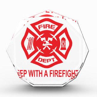 Feel Safe at Night Sleep With a Firefighter Tee Sh Award