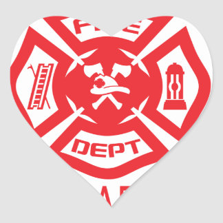 Feel Safe at Night Sleep With a Firefighter Tee Sh Heart Sticker