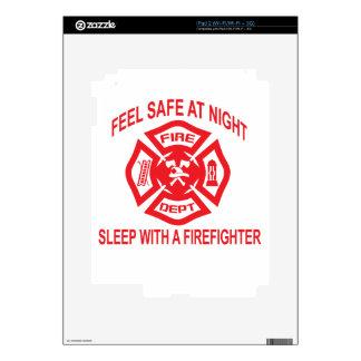 Feel Safe at Night Sleep With a Firefighter Tee Sh iPad 2 Skins