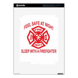 Feel Safe at Night Sleep With a Firefighter Tee Sh iPad 3 Skin