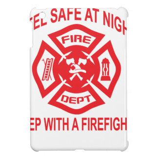 Feel Safe at Night Sleep With a Firefighter Tee Sh iPad Mini Cases