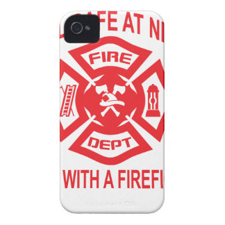 Feel Safe at Night Sleep With a Firefighter Tee Sh iPhone 4 Cover