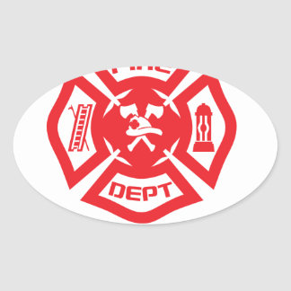 Feel Safe at Night Sleep With a Firefighter Tee Sh Oval Sticker