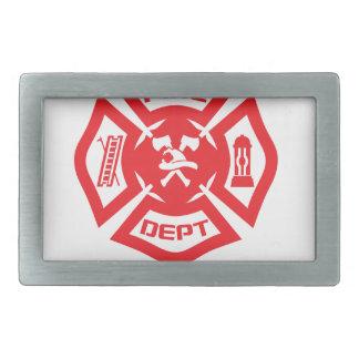 Feel Safe at Night Sleep With a Firefighter Tee Sh Rectangular Belt Buckle