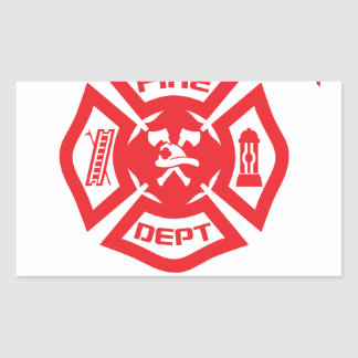 Feel Safe at Night Sleep With a Firefighter Tee Sh Rectangular Sticker