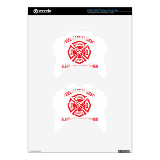 Feel Safe at Night Sleep With a Firefighter Tee Sh Xbox 360 Controller Skin