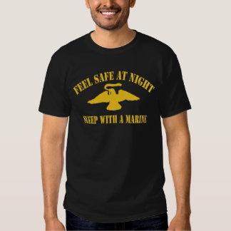 Feel Safe at Night Sleep With a Marine T Shirt