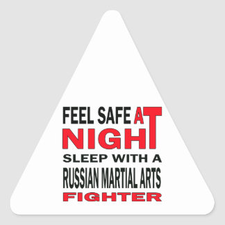 Feel safe at night sleep with a Russian Martial Ar Triangle Sticker