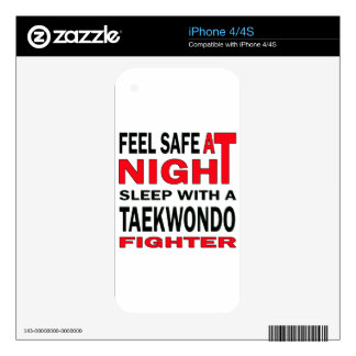 Feel safe at night sleep with a Taekwondo fighter Skins For iPhone 4