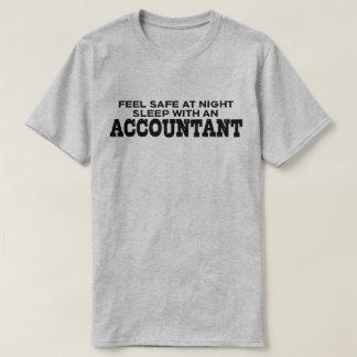 Feel Safe At Night Sleep With An Accountant T-Shirt