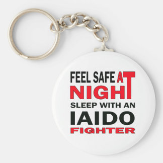 Feel safe at night sleep with an Iaido  fighter Basic Round Button Keychain