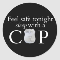 Feel safe tonight! classic round sticker