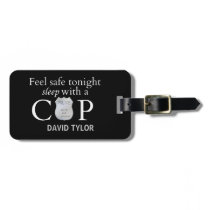 Feel safe tonight! luggage tag