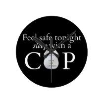 Feel safe tonight! round clock