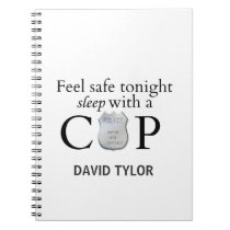 Feel safe tonight! spiral notebook