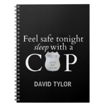 Feel safe tonight! spiral notebook