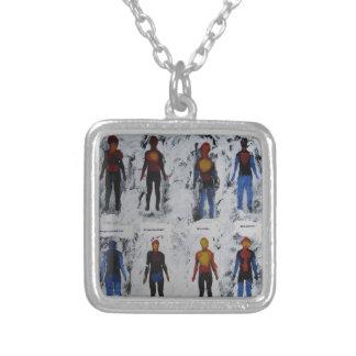 Feel Square Pendant Necklace