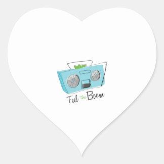 Feel the Boom Heart Sticker