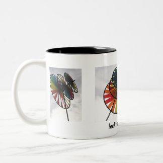 Feel the Breeze Pinwheel Girl Mug