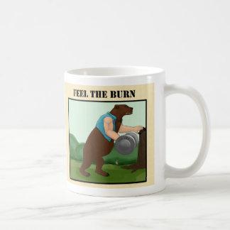 Feel the Burn - Bear Bare Arms - right Classic White Coffee Mug