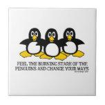 Feel the burning stare of the penguins tiles
