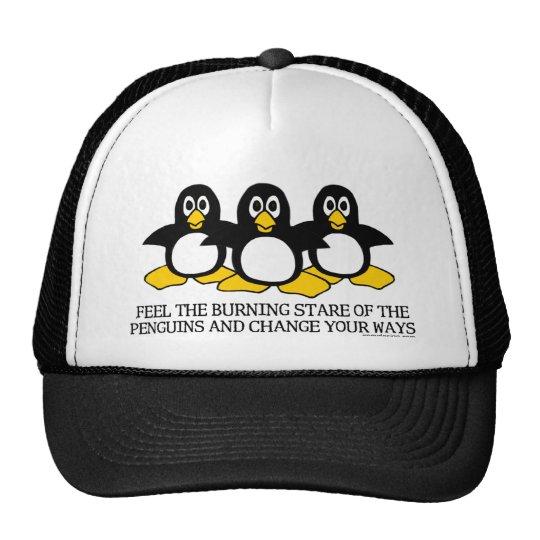Feel The Burning Stare Of The Penguins Trucker Hat