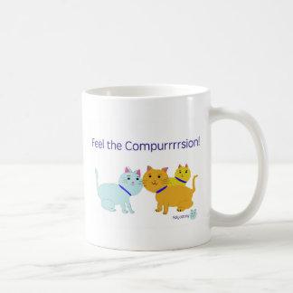 Feel the compurrrsion! coffee mug