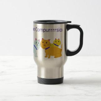 Feel the compurrrsion! travel mug