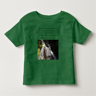 feel the earth toddler shirt