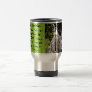 feel the earth travel mug
