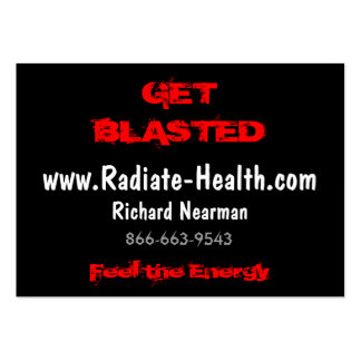 Feel the Energy, www.Radiate-Health.com, Richar... Large Business Card