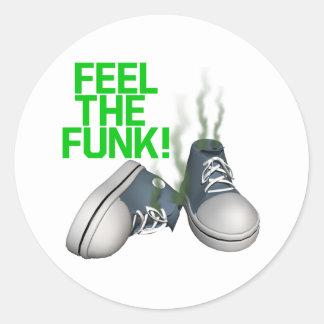 Feel The Funk Classic Round Sticker