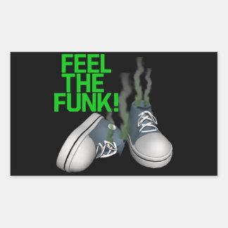 Feel The Funk Rectangular Sticker