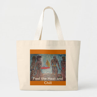 Feel The Heat and Chill Large Tote Bag