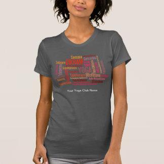 Feel The Heat Bikram Cinnebar Red Yoga Positions T-Shirt