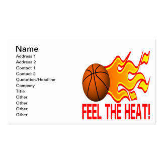 Feel The Heat Business Card Template