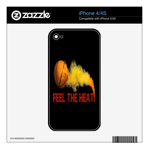Feel The Heat Decal For iPhone 4