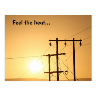 Feel the Heat of an African Sunrise Postcard