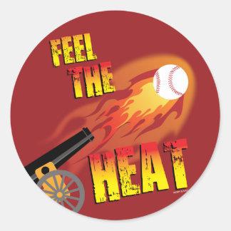 FEEL THE HEAT - SPORTY SLANG - Baseball Sticker