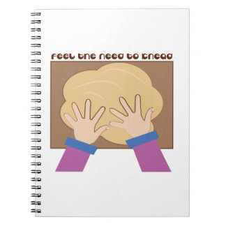 Feel The Knead Spiral Note Book