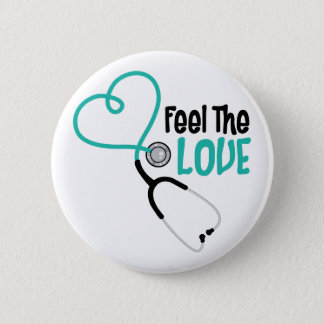 Feel The Love Pinback Button