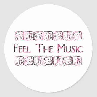 Feel the Music Classic Round Sticker
