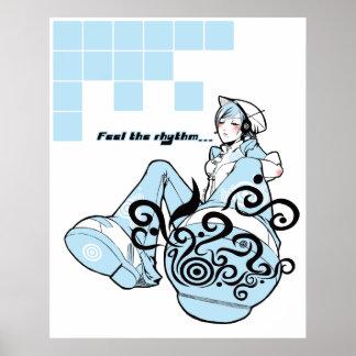 Feel the rhythm Poster Print